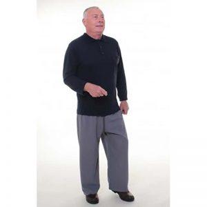 vêtement médicalisé homme apparence polo associé à pantalon