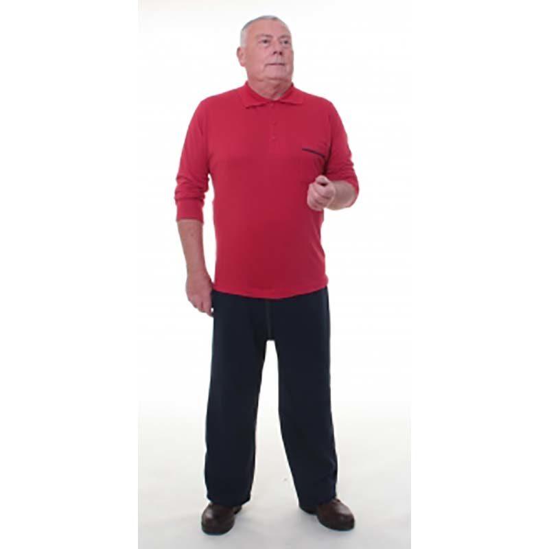 grenouillère de jour homme pantalon noir et polo manches longues