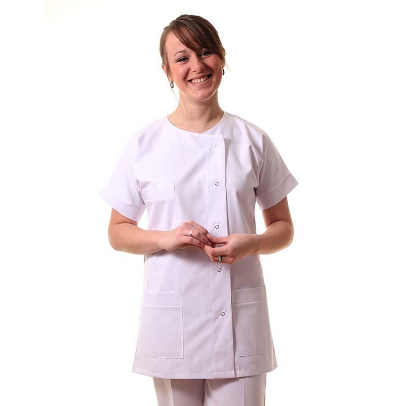 tunique infirmière fermeture boutons pressions