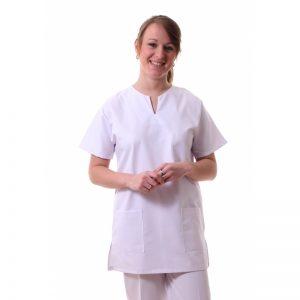 vêtement professionnel médical tunique femme manches courtes