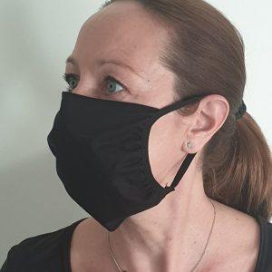 masque en tissu noir cote